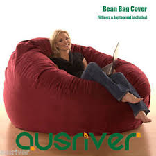 super large luxury seat feeling bean bag beanbag cover suede round