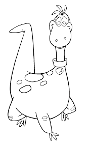print out the flintstones dino coloring pages kids coloring pages