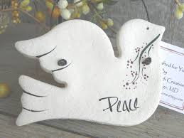 baptism christmas ornament peace dove baptism gift salt dough ornament easter christening
