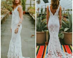 wedding dress etsy boho wedding dress etsy