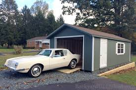 Single Car Garage by Garages U0026 Large Storage Single Car Garages Backyard Unlimited