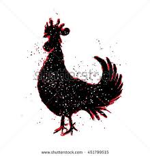 chinese 2017 new year rooster symbol stock illustration 451799515