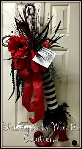 witch boot halloween decorations 20 best halloween wreaths images on pinterest