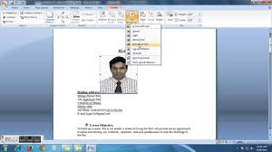 my objective in a resume how to insert my picture into my resume cv youtube
