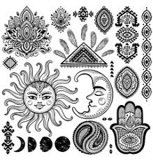 sun and moon vintage royalty free vector image
