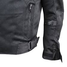 motorcycle outerwear black mesh motorcycle jacket with insulated liner and ce armor