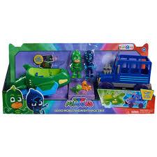 pj masks gekko mobile night ninja u0027s bus 2 pack vehicle