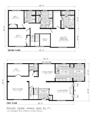 House Plan Small Two Story Cabin Floor Plans With House Under 1000