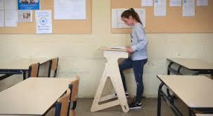 jaswig standup height adjustable wooden standing desk fitness