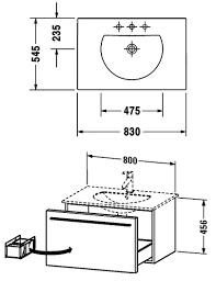 Duravit X Large Vanity Duravit X Large 800 X 522mm Vanity Unit With 830mm Basin