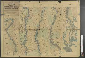 Mississippi River United States Map by Lloyd U0027s Map Of The Lower Mississippi River From St Louis To The