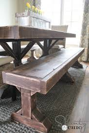 diy dining table bench how to make a bench for dining table lippy home