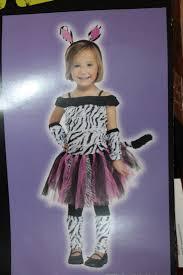zebra striped dress tulle skirt animal halloween costume size