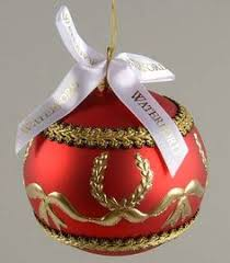 waterford holiday heirloom ornaments garnet ball 5