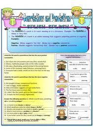denotation and connotation worksheet worksheets