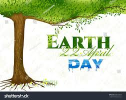background tree design poster earth day stock vector 608523356