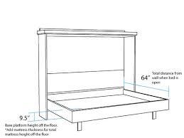 Queen Size Murphy Bed Kit Bedding Surprising Horizontal Murphy Bed