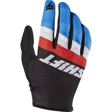 vintage motocross gloves shift 2017 mx new whit3 label air tarmac red white blue black