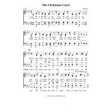 the christmas carol pdf song sheet