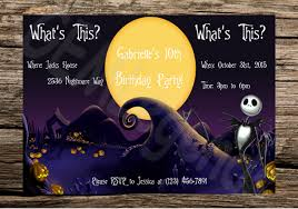 christmas birthday invitations template tags nightmare before
