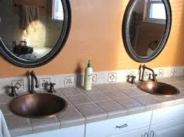 Bathroom Vanity With Copper Sink How To Remodel A Bathroom With Italian Porcelain Tile U0026 Copper