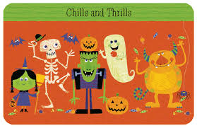 chills and thrills greeting card printable card