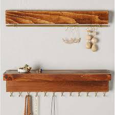 the knotted wood hanging jewelry organizer rank u0026 style