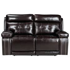 leather reclining loveseat w console flexsteel with center cover