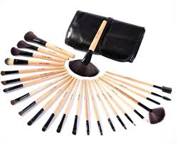 professional makeup artist tools buy puna store makeup brush set 24 pieces with black pu leather