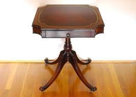 leather top side table table top vintage leather top end tables antique leather top