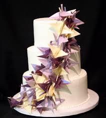 Origami Wedding Cake - origami cranes wedding cake this simple three tiered weddi flickr