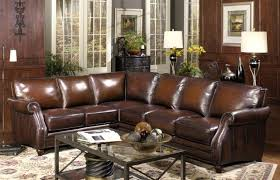 Traditional Leather Sofas Dark Brown Leather Sofa With Nailhead Trim Okaycreations Net