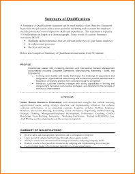 resume summary exles resume summary statement exles powerful of qualifications it