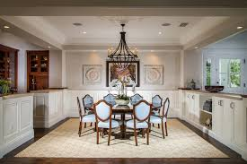 Tray Ceiling Dining Room - orange county expandable round dining room traditional with wood