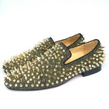 new fashion men party and prom shoes leather loafers with gold