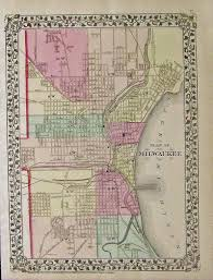 Map Of Milwaukee Prints Old U0026 Rare Milwaukee Wi Page
