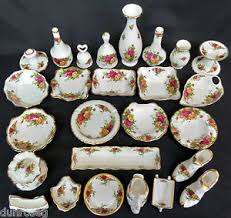 royal albert country roses vases sweet dishes ornaments