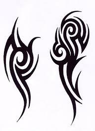black ink outstanding tribal design for s shoulder