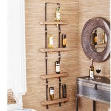 this upton home wall mount wine storage holds up to 16 bottles of