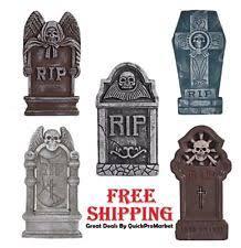 Scary Halloween Decorations Ebay by Spooky Scary Halloween Decoration Outdoor Resin Devil Tombstone Ebay