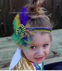 mardi gras headband mardi gras beaded feather headband mardi gras bo ho baby