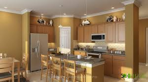 3d kitchen interior design and rendering on behance