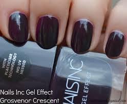 nails inc gel effect nail polish grosvenor crescent swatch mani