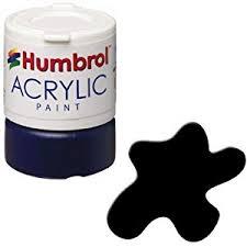 humbrol 12ml acrylic paint no 33 matt black amazon co uk toys