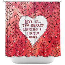 Shower Curtains With Red Dianoche Designs Brings Zara Martina U0027s Captivating Love Heart
