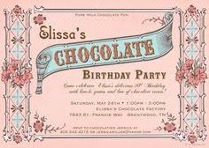chocolate party invitation party invites pinterest chocolate