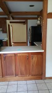 new hardware for 1960s kitchen cabinets