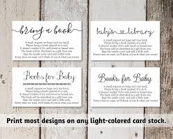 Bring Book Instead Of Card To Baby Shower Printable Baby Shower Book Request Bring A Book Instead Of A