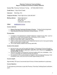 Resume Examples For Students With No Experience by Pharmacy Technician Resume Sample No Experience Jennywashere Com