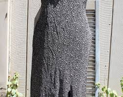 Dress Barn Black And White Dress White Floral Dress Etsy